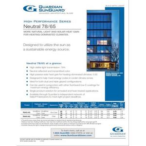 SunGuard Neutral 78/65 Flyer-Guardian Industries Corp.