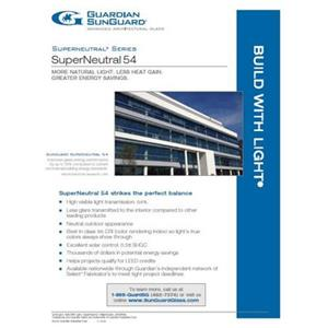 SunGuard SN 54 Flyer-Guardian Industries Corp.