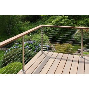 Merveilleux Atlantis Rail Systems   SunRail™ Latitude   Stainless Steel Cable Railing  System W/Wood Handrail