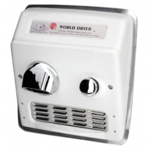 Model RA - Recessed A.D.A. Compliant Push-Button Hand Dryer-World Dryer