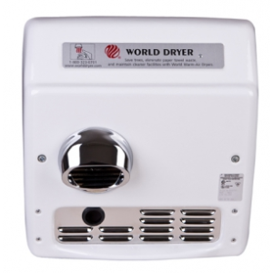 Model XRA - Recessed A.D.A. Compliant Automatic Hand Dryer-World Dryer