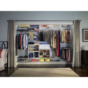 Shelftrack Elite Deluxe Wood Closet Storage System Closetmaid