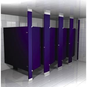 Floor To Ceiling Powder Coated Metal Toilet Partitions Hadrian - Metal bathroom partitions
