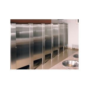 Hadrian Manufacturing Inc. - Floor Mounted Stainless Steel Toilet Partitions