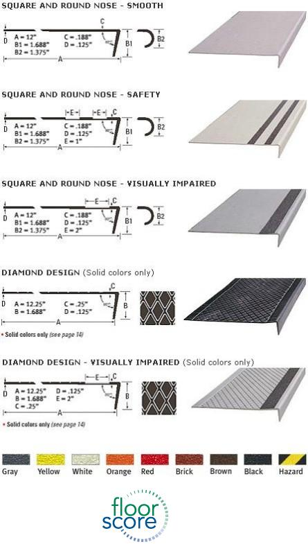 Burke Marble Rubber Stair Treads