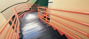 Burke Rouleau Stair System - Rubber Tile, Treads, and Risers