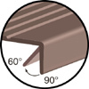 Mercer Linear Series Rubber Stair Treads