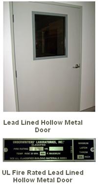 Lead Lined Hollow Metal Doors