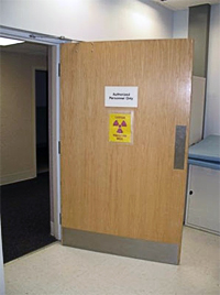 Lead Lined Solid Core Wood Doors