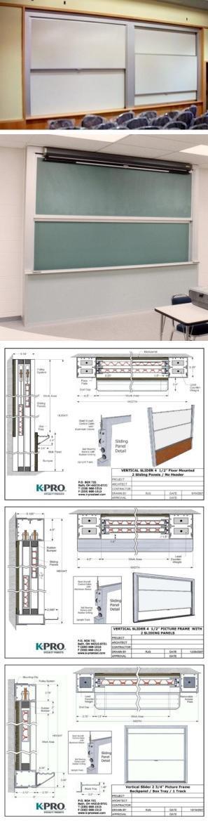 Vertical Sliding Presentation Boards