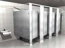 Headrail Braced Powder Coated Metal Toilet Partitions