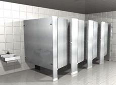 Floor Mounted Powder Coated Metal Toilet Partitions