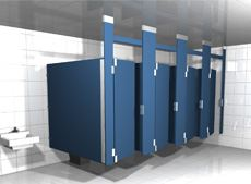 Solid Plastic Toilet Partition Styles