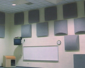 Decorative Fabric Wrapped Acoustical Diffuser Panels