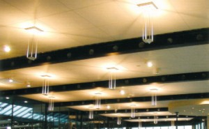 White Line - Open Cell Melamine Acoustical Foam Ceiling Tiles
