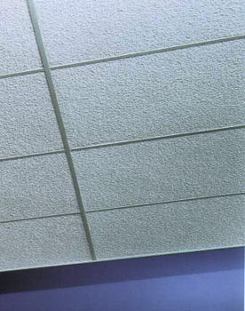Painted Nubby Fiberglass Acoustical Ceiling Tiles