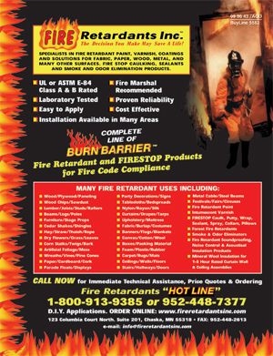Fire Retardants Inc. - Fire Retardant coatings and Treatments