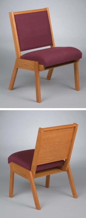 Model 87 Stackable Oak Wood Chairs